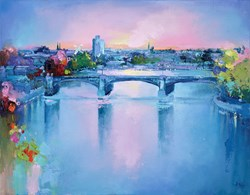 Trent Bridge by Anna Gammans - Original Painting on Stretched Canvas sized 18x14 inches. Available from Whitewall Galleries